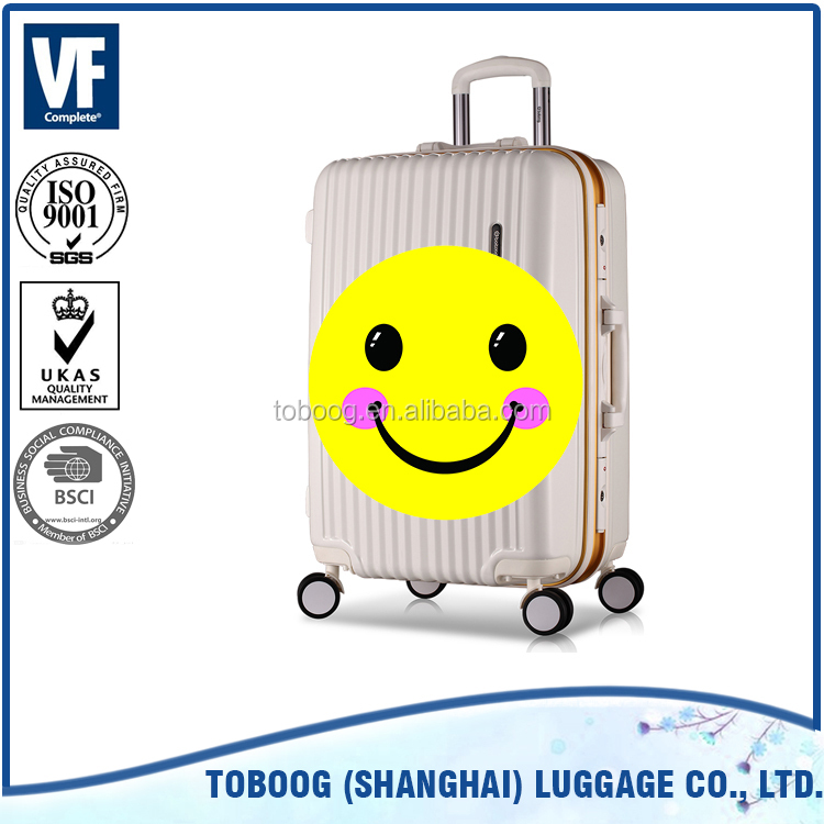 Best price hot selling luggage trolley high quality aluminium vintage suitcase