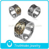 2015 Top Quality Fashion Religious Accessories Stainless Steel Signet Prayer Finger Ring With Black Enamel Design For Muslim