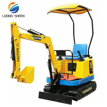 amusement excavator trailer/cheap mini excavator/amusement kiddie rides excavator for kids