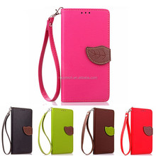Leaf Style Flip Leather Case For iPhone8 Wallet Case Cover