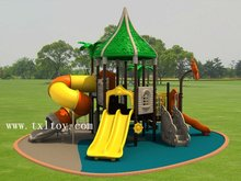 outdoor plastic playset for kids outdoor playground outside playground structure TX--101