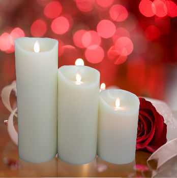 Paraffin Wax Material and moveable flame candle Feature luminara wick candle