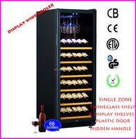 Wine Barrel Furniture Refrigerator with Lock USF-128S Single Zone Wine Display Cooler with 6 Display Shelves