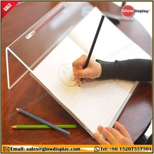 GlowDisplay 20 Degree Angle Clear Acrylic Writing Slope for Better Writing Posture