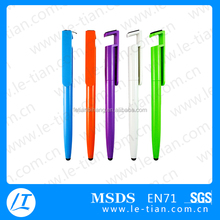 PB-124 Mobile phone holder pen,screen cleaner plastic pen,Touch screen pen