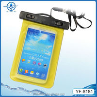 pvc phone waterproof pouch for samsung galaxy note with lanyard