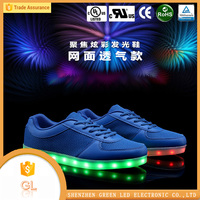 wholesale all shoes in dubai Lace-up style led shoes light for men