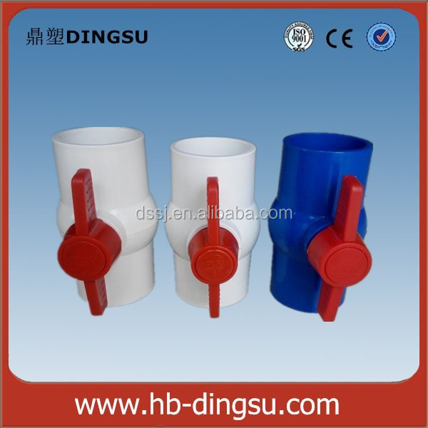 Plastic acid resistant ball valve with Plain Socket pvc ball valve handle