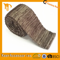Yong Men Fashion Colourful Knitted light brown knitting necktie