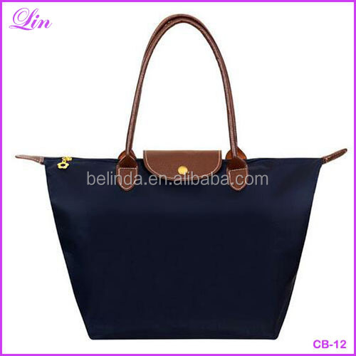 Fashion Candy Colors Beach Bag Waterproof Nylon Fabric Women Handbag Solid Ladies Messenger Shoulder Clutch Bag
