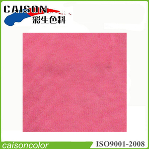 Fluorescent pink liquid pigment colors for textile cationic dyeing