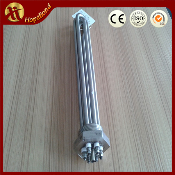 240V 415V 4500/5500W 304 Stainless Steel Sheath 2'' NPT Threaded Water Heating Element for Brewery Brewing Process