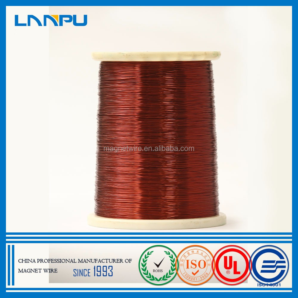 Professional Supplier 0.05mm Polyester Solderable Enameled Winding Copper Wire Audio