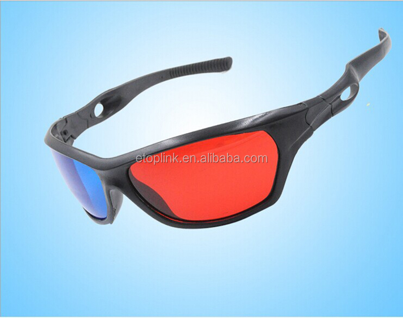 Universal 3D Plastic glasses/Oculos/Red Blue Cyan 3D glass Anaglyph NVIDIA 3D vision/cinema