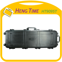 Wonderful design plastic gun carry case HT 9095T with wheel