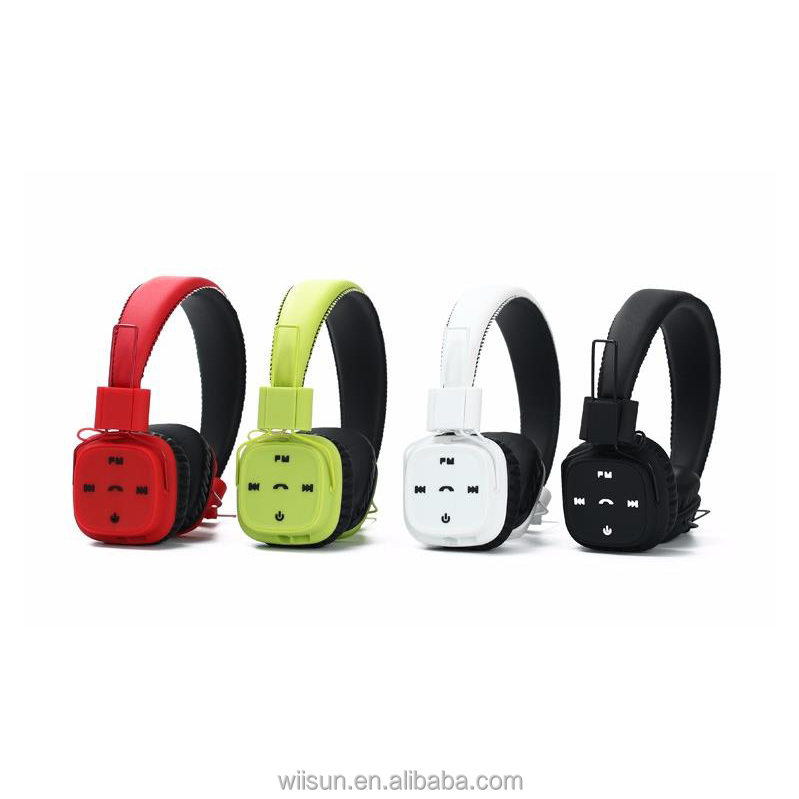 TM-022 HandsFree Wireless Bluetooth Headphones with Microphone Stereo Support TF Card FM Radio