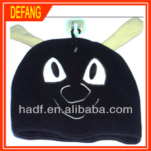baby child soft fleece hat with bear design