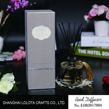 high-end home fragrance diffuser with round glass bottle