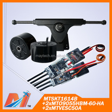 Maytech 2pcs brushless speed controller vesc and scooter hub motor 90mm and truck models for cruiser skateboard
