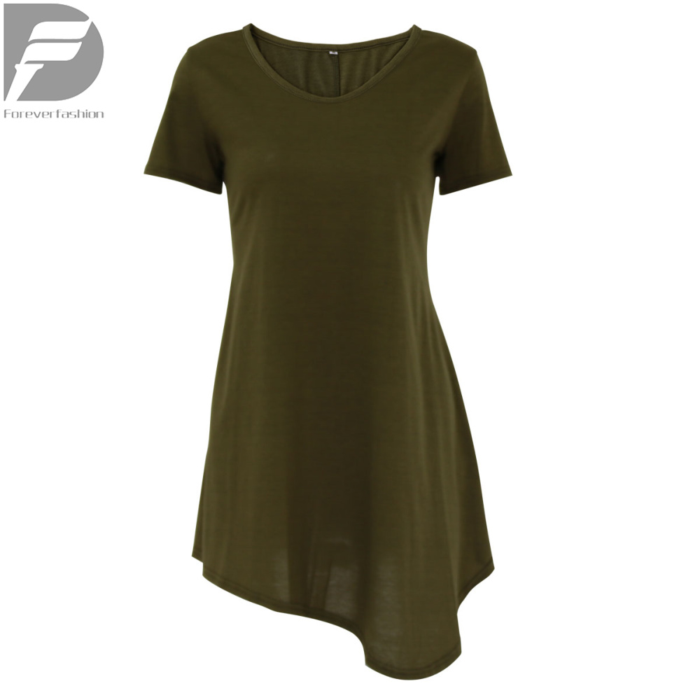 women crew neck short sleeve cheap dress