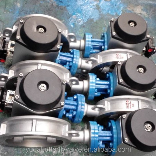 Pneumatica actuator wafet type Stainless steel material butterfly valve factory in China