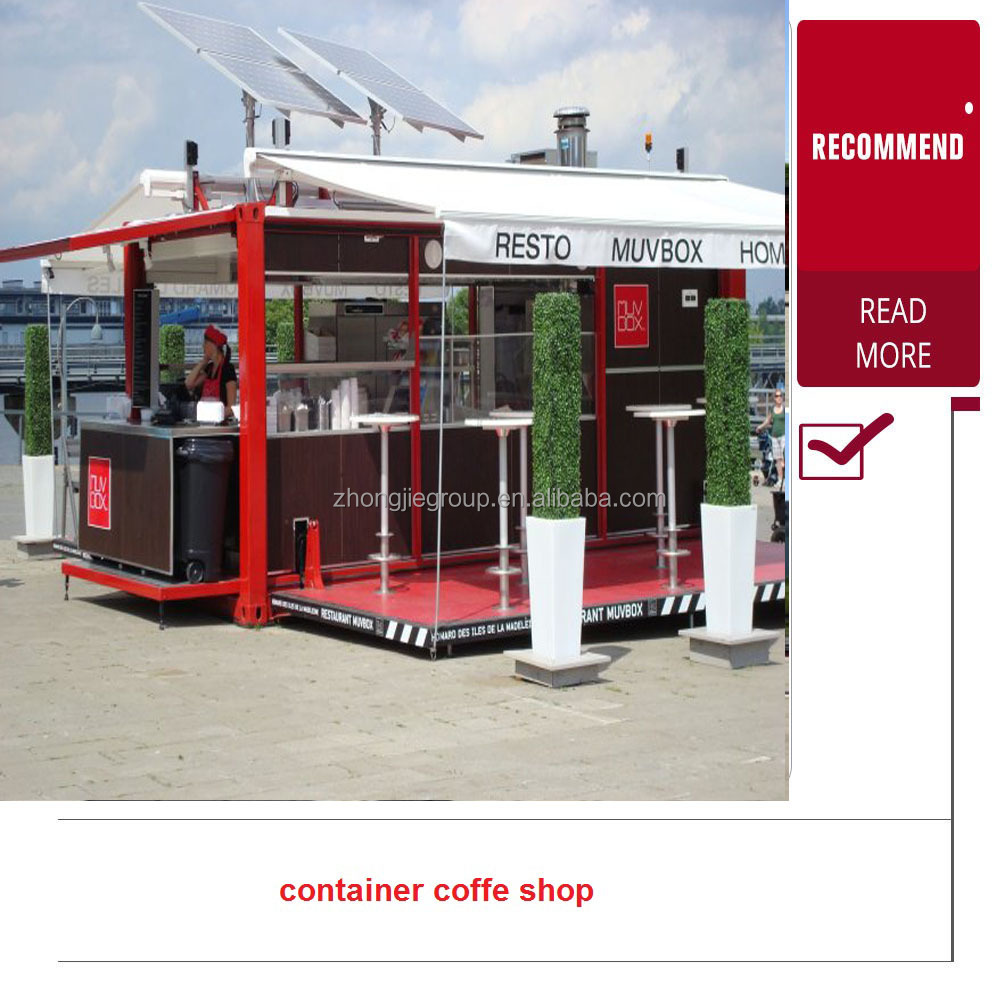 movable Prefabricated Shipping container coffee shop/tea shop store