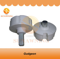 Aluminum awning roller tube end cap