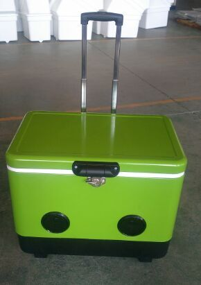 speaker cooler box with handle Trolley,cooler box with speakers