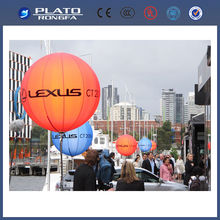 2014 cheap custom pringted decoration floating lighting balloon / lighted outdoor balloon