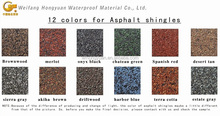 3-Tab Asphalt Roof Shingle /Self Adhesive Colorful Fibreglass Roof Tile /Bitumen Roofing Material with ISO (12 Colors)