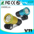 Rechargeable High Lumen Dive FlashLight 100m Waterproof Aluminum Anti-corrosion Housing V11