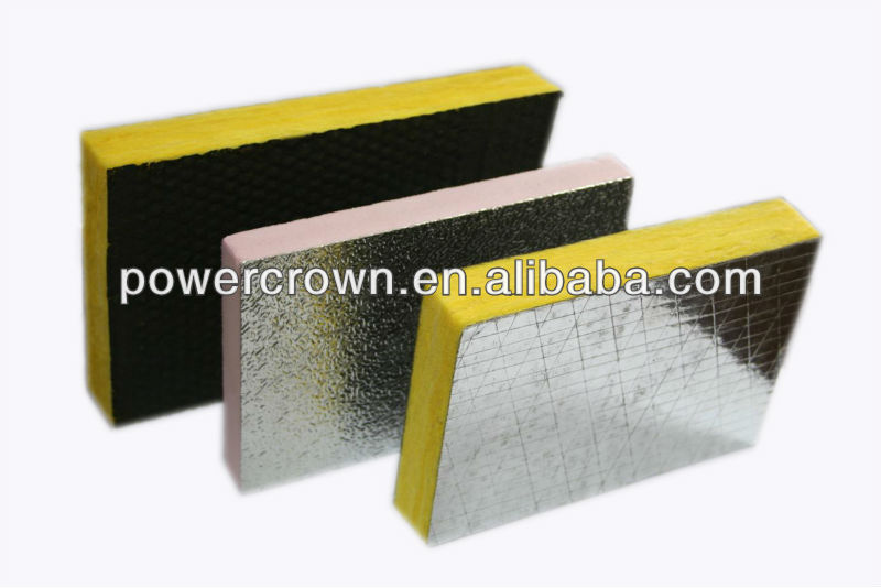 construction material high density glass wool insulation board with aluminum foil