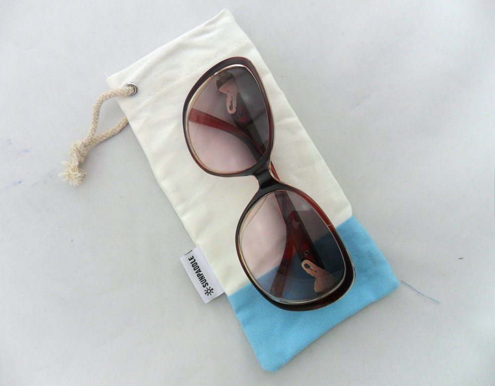 multicolor sheer canvas sunglasses pouch cotton packaging pouch