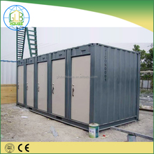 Customized long lifespan pre-made steel structure prefab container mobile toilet with shower