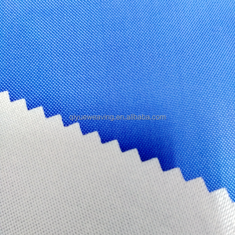 QY-S1221#polyester 210d pu coating with silver coating Anti uv polyester 210d polyester fabric