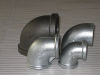 galvanized ductile iron 90 degree elbow bellmouth pipe fitting