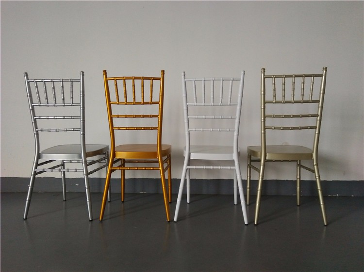 Buy from china aluminum gold tiffany stacking wedding chairs