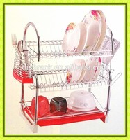 Dish plate metal display rack Kitchen storage rack wall mounted