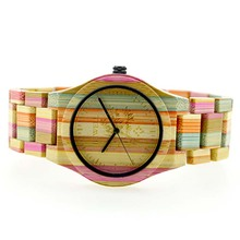 New arrival ZS bewell wrist wooden colorful bamboo watches 2018
