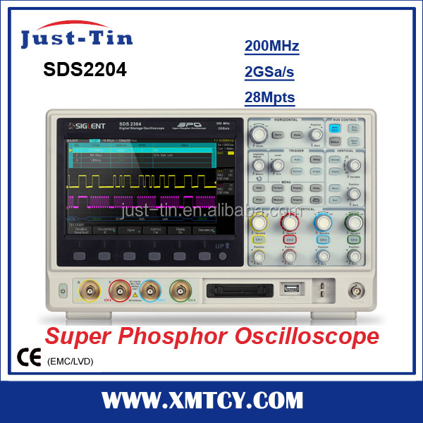 SDS2204 4 channel digital oscilloscope price 200MHz