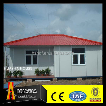 The steel structure prefabricated miniature houses for live in designs