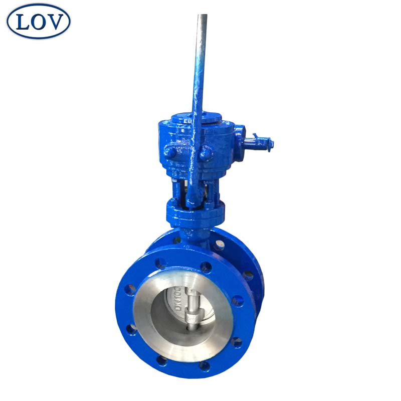 High Performance Fisher 7600 DN100 PN16 Flanged Triple Offset Gear Operated Butterfly Valve Price