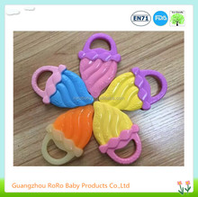 New design BPA free colorful ice cream shape infant silicone teether