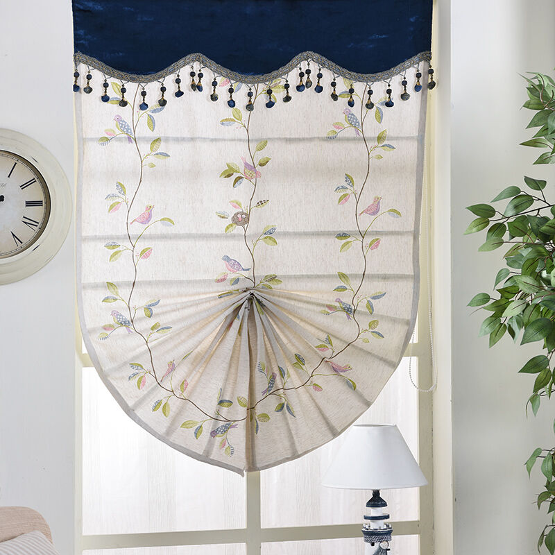 Custom roman blind window curtain lifting pull shade