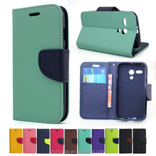 Fancy Dual Colour Leather PU Wallet Phone Case For LG K7 ,Book Style Flip Case Cover For LG K7