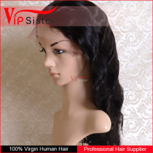 high quality natural color customized hair line 7A Grade brazilian virgin human hair full lace wig