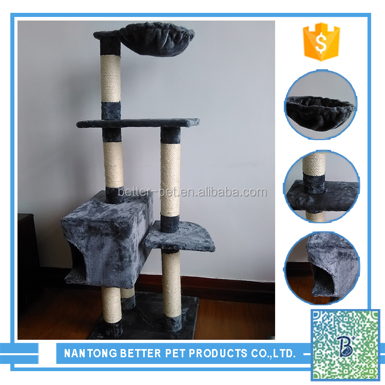 wooden and funny cat tree house