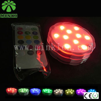 pool wedding decorations popular in Japan multicolor changing remote control plastic led light base