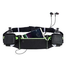 New Design Cycling Bag Running Belt Sports Waist Pack with Hidable Water Bottle Holder