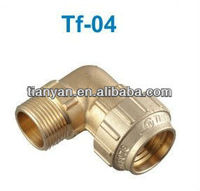 PE PIPE BRASS FITTING MALE ELBOW